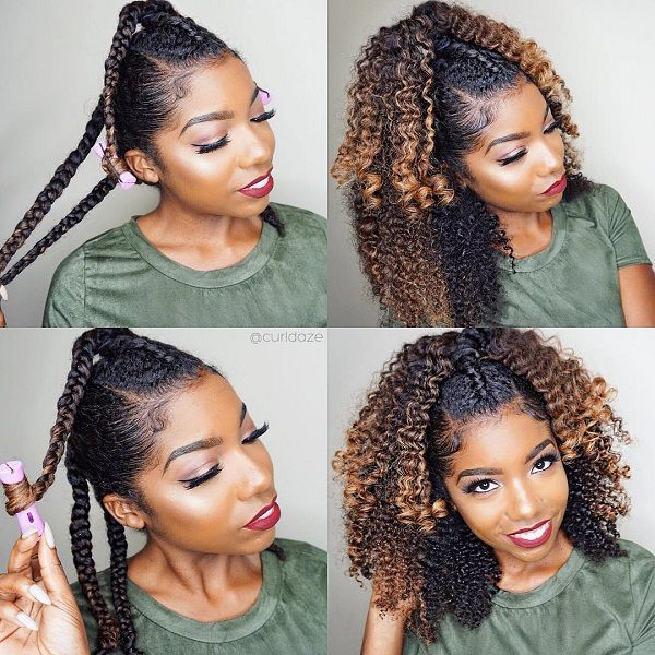 Half Up Half Down on Twist and Curl