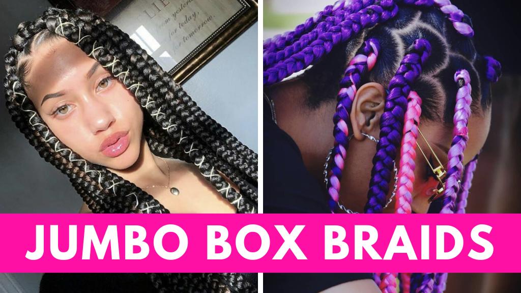 Beautiful Jumbo Box Braids Hairstyles