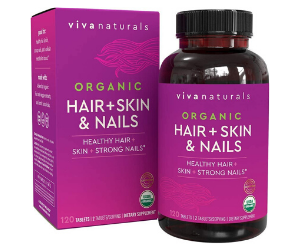 Products For Natural Hair - Organic Hair+Skin and Nails Vitamins for Women