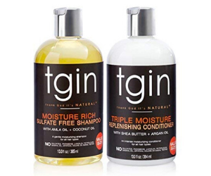 tgin Moisturizing Shampoo & Conditioner Duo For Natural Hair