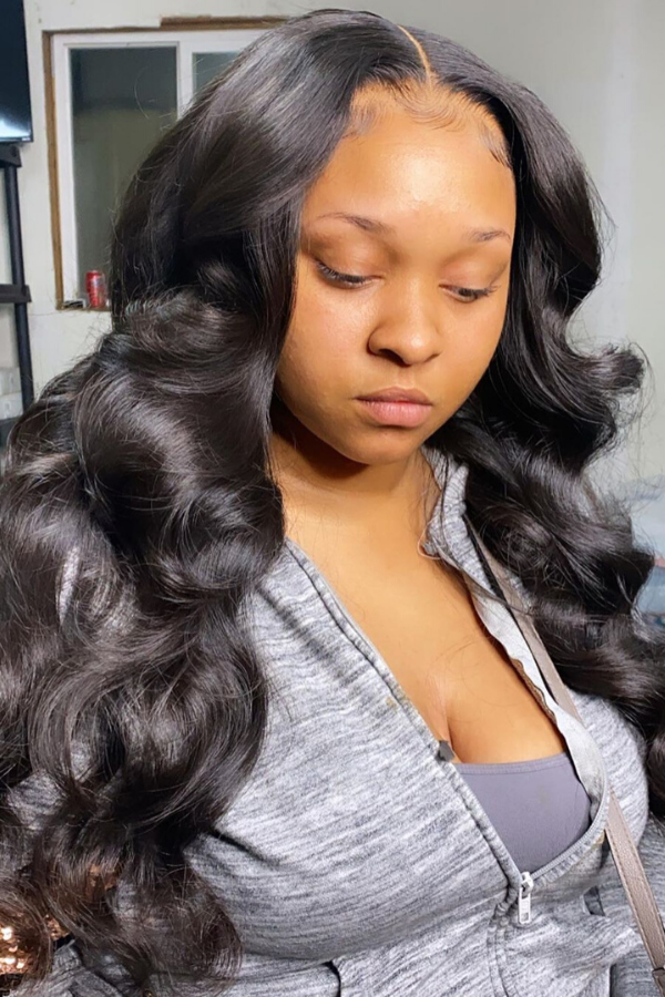 Big body waves on a closure sew in.