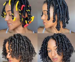 Flexi rod rollerset on natural hair