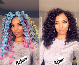 A Guide For The Perfect Rollerset On Natural Hair 2020 Curly Girl Swag