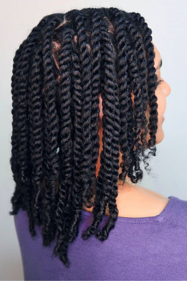 Stretch Natural Hair After Washing With Twists