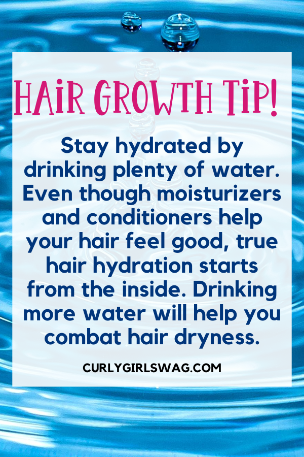 Natural Hair Growth Tips - Drink plenty of water