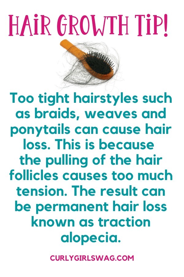 Natural Hair Growth Tips - Avoid hairstyles that cause too much tension