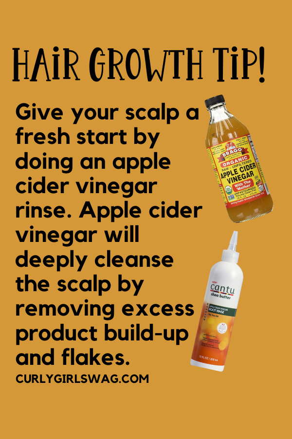 Remove build-up from your scalp with apple cider vinegar