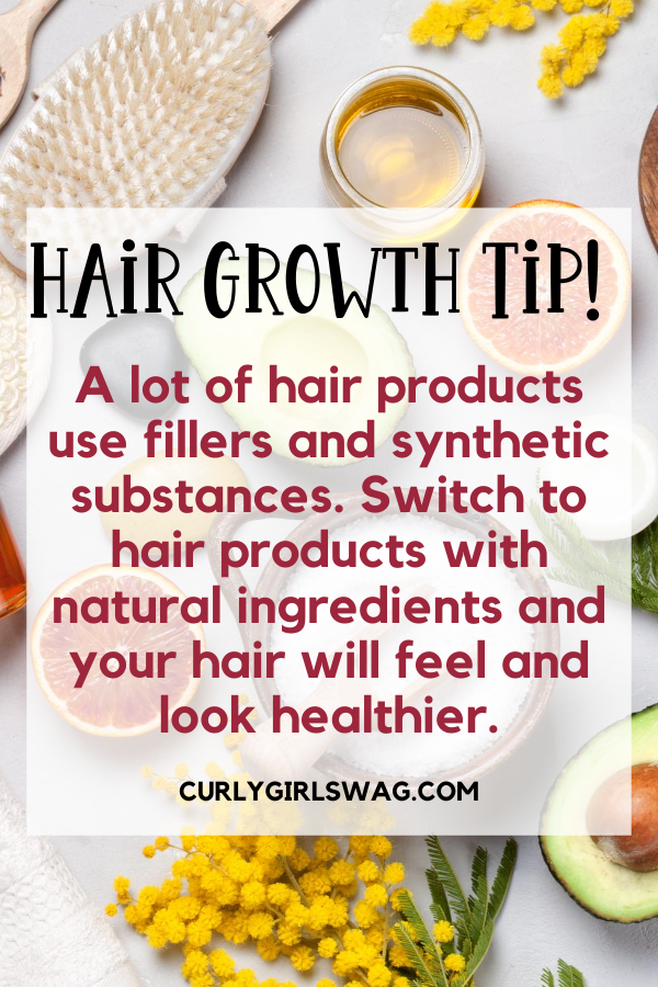 Use hair products with natural ingredients