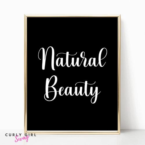 Natural Hair Printable Wall Art